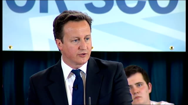 Cameron speech We're doing this because we have to because you left our economy in a complete shambles and we will never ever let the British people...