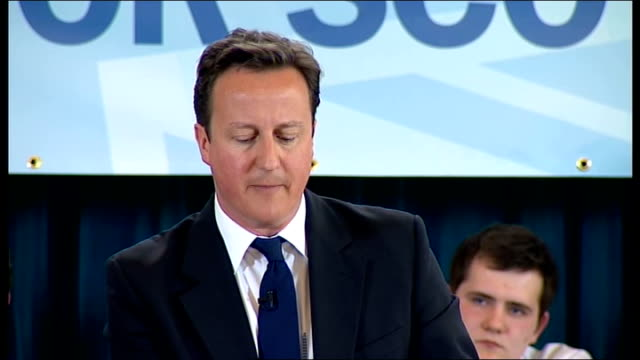 scottish parliament elections: cameron speech; - when we look out from aberdeen, we see an opportunity for scotland to lead the world in renewable... - member of the scottish parliament stock videos & royalty-free footage