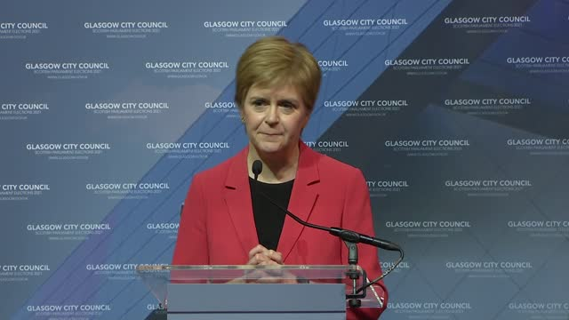 scottish parliament elections: nicola sturgeon re-elected and speech; part 1 of 2 scotland: glasgow: int returning officer announcing that nicola... - smooth stock videos & royalty-free footage