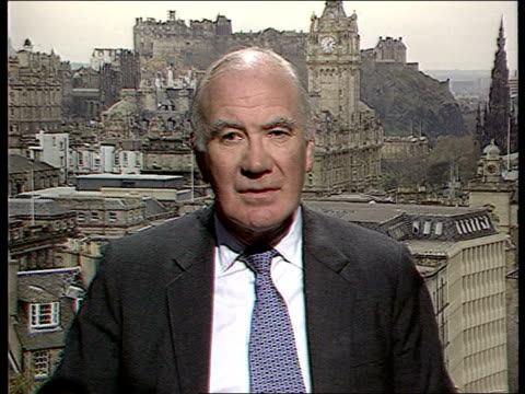 scottish parliament; itn scotland: int menzies campbell mp intvwd - parliament will only be worthy of the people of scotland of we can raise our own... - ブランド名点の映像素材/bロール