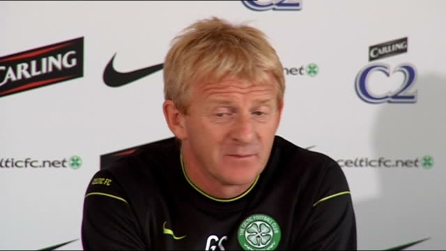 Celtic press conference Gordon Strachan press conference SOT Good games to be seen attendance numbers / Match reports media