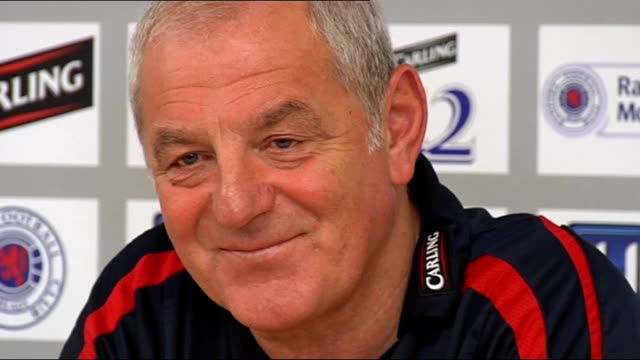 Glasgow Rangers Walter Smith press conference Smith press conference SOT Will be week or two until Ferguson is back to proper match fitness / When...