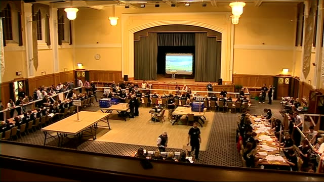 itv news special clean feed 0300 0400 dumfries and galloway count gvs/ east lothian announcement for referendum agents to attend 'doubtful ballot... - dumfries and galloway stock videos & royalty-free footage