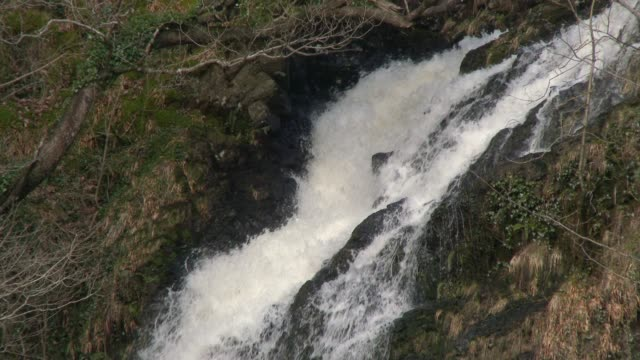 Scottish waterfall in Dumfries and Galloway south west Scotland