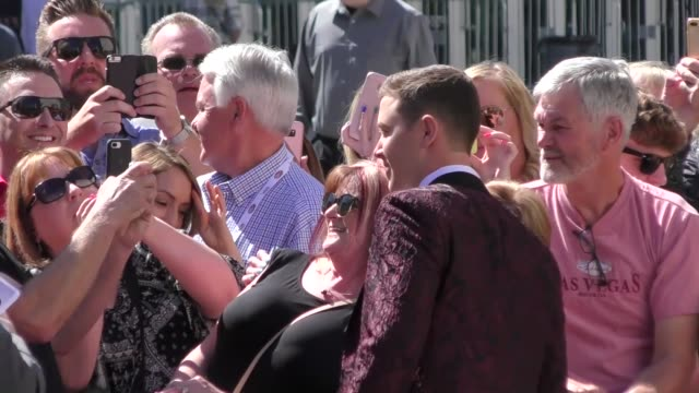 scotty mccreery arriving to the 52nd academy of country music awards in celebrity sightings in las vegas - academy of country music awards stock videos & royalty-free footage