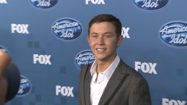 scotty mccreery at the fox's 'american idol 2011' finale results show at los angeles ca - results show stock videos & royalty-free footage