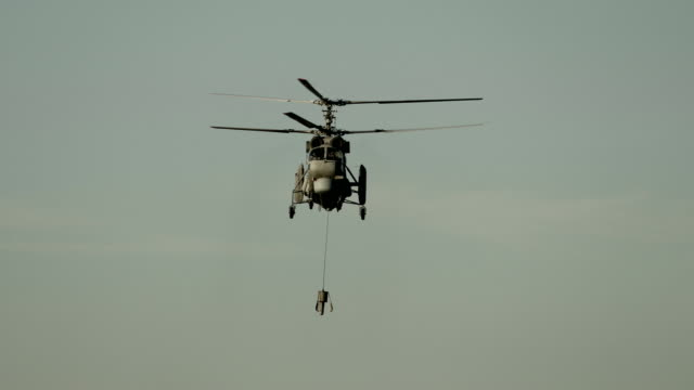 scout helicopter in search of submarines - military helicopter stock videos & royalty-free footage