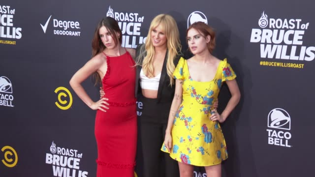 scout willis rumer willis and tallulah willis at the comedy central roast of bruce willis at hollywood palladium on july 14, 2018 in los angeles,... - tallulah belle willis stock videos & royalty-free footage