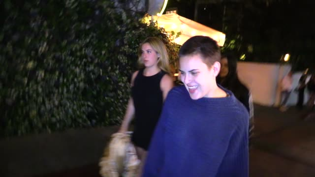 scout willis & tallulah willis at chateau marmont in west hollywood in celebrity sightings in los angeles, - tallulah belle willis stock videos & royalty-free footage