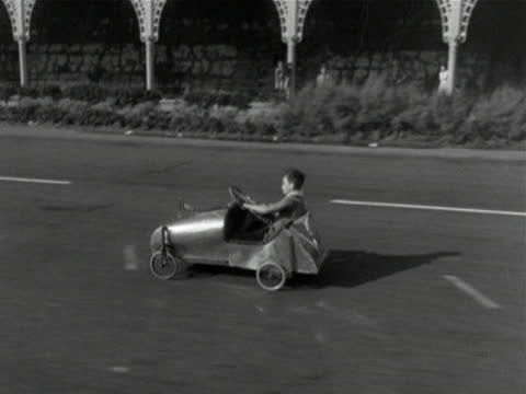 scouts and cubs take part in a soap box derby along the seafront at brighton 1950 - cub scout stock videos and b-roll footage