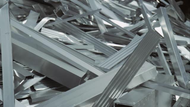 scrap metal on junkyard - iron appliance stock videos and b-roll footage