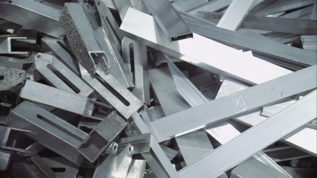 scrap metal on junkyard - metal stock videos & royalty-free footage