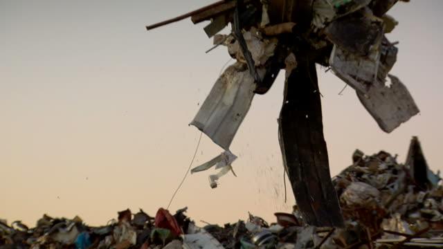 scrap steel recycling - steel stock videos & royalty-free footage