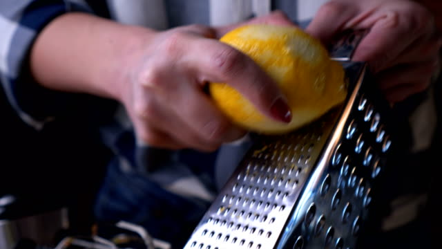 scrapping lemon skin - lemon stock videos & royalty-free footage
