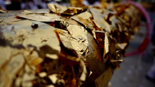 scraps of gold foil - peel stock videos & royalty-free footage