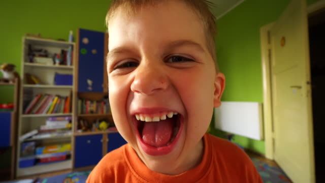 screaming and yelling boy - children only stock videos & royalty-free footage
