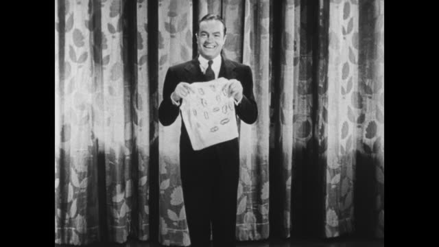 A screaming woman escapes from Bob Hope