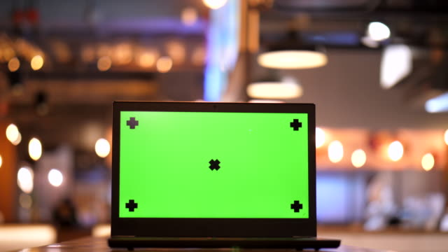 screen labtop chroma key - template stock videos & royalty-free footage