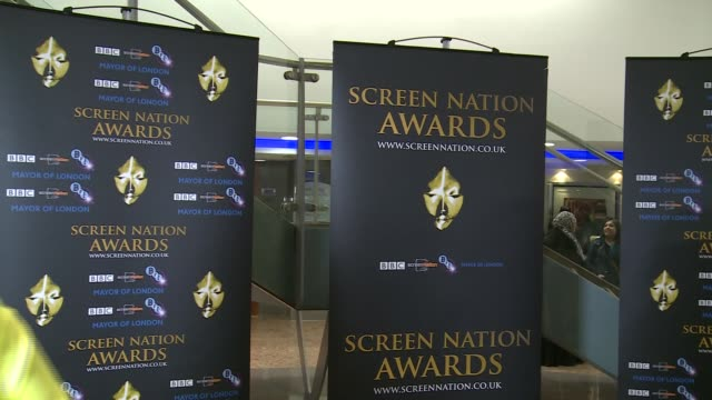 Screen Nation Awards 2016 Rachel Ritfield interview SOT on meeting Idris Elba / on still modelling Alison Hammond interview SOT On being nominated /...