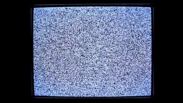 screen of analog square tv with white noise. - television industry stock videos & royalty-free footage