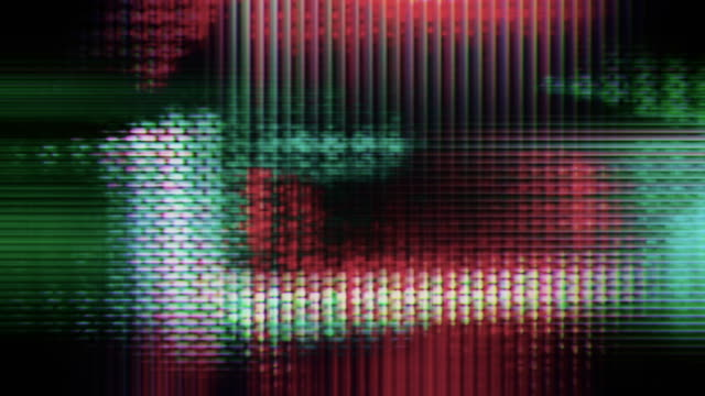 tv screen pixels flicker and shift (loop). - glitch technique stock videos and b-roll footage