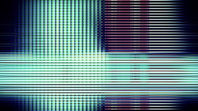 vidéos et rushes de screen pixels fluctuate with color and video motion - quadrillage