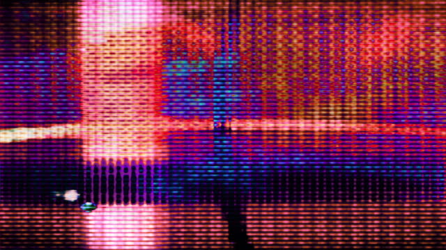 tv screen pixels fluctuate with video motion - färgbild bildbanksvideor och videomaterial från bakom kulisserna