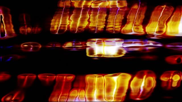 vidéos et rushes de screen pixels shift and flicker (loop). - bright colour
