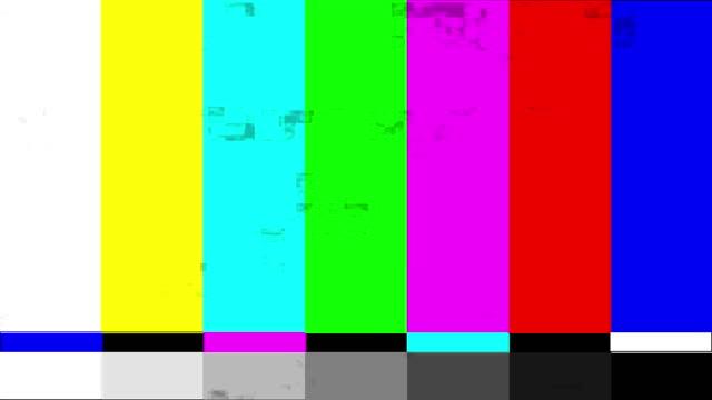 tv-bildschirm-test. tv-test muster streifen. retro-stil bildschirmschoner. 4k-video - leuchtende farbe stock-videos und b-roll-filmmaterial