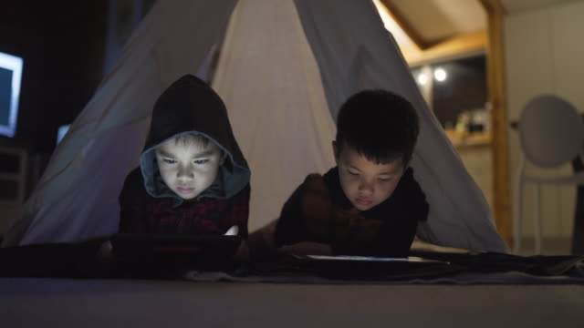 screen time for kids at home. - māori people stock videos & royalty-free footage