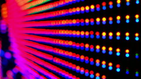 vídeos y material grabado en eventos de stock de pantalla de led - luz led