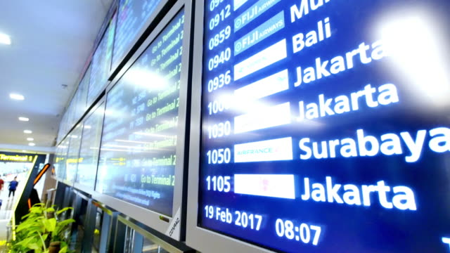 screen with flight information - digital signage stock videos and b-roll footage