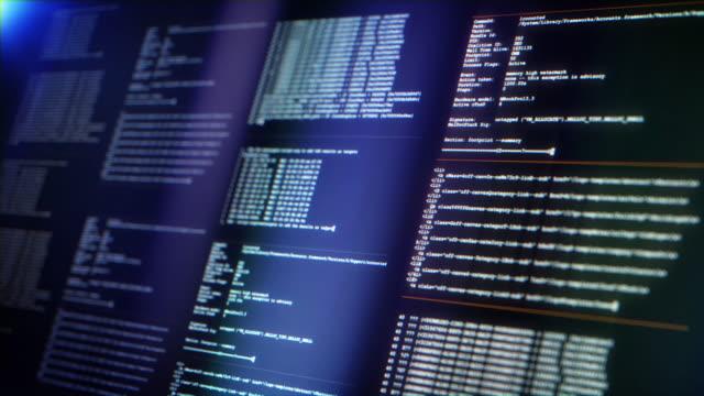vidéos et rushes de ecran avec code de programmation - développement