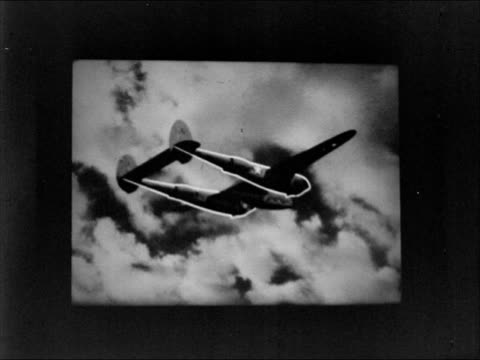 disney screening 'navy project 648' twin engine p38 lightning in flight disney animation outlining body of airplane walt disney in screening room... - disney stock videos and b-roll footage