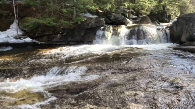 screw auger falls in newry, maine usa during spring - wilderness stock videos & royalty-free footage