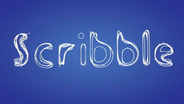stockvideo's en b-roll-footage met hd scribbling text - gekrabbel
