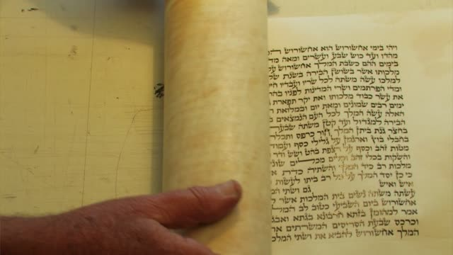 scroll of the book of esther (megillat esther), - judaism stock videos & royalty-free footage