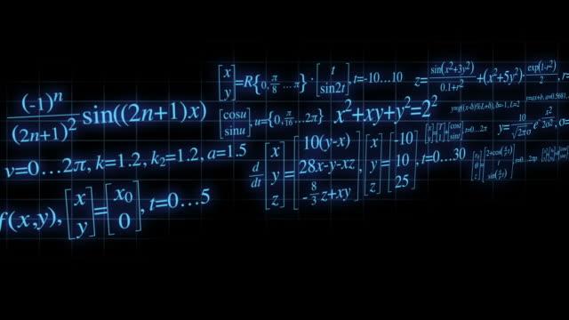 vídeos y material grabado en eventos de stock de el desplazamiento de ecuaciones matemáticas bucle - geometría
