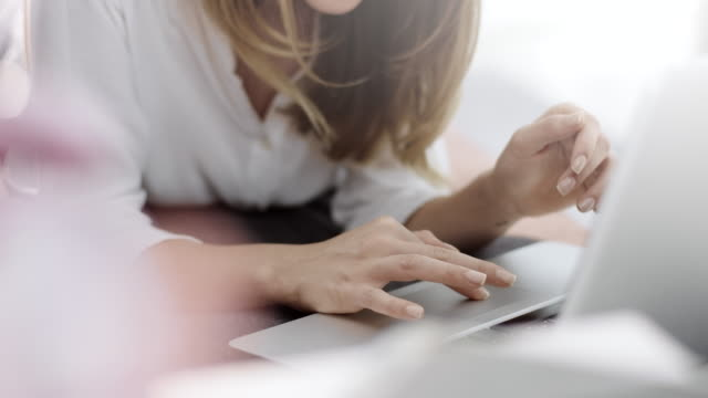 Scrolling on laptop