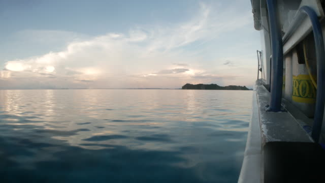 scuba boat on sea surface - palau stock videos & royalty-free footage