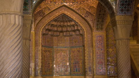 sculpted ceramic patterns on a wall - mosque stock videos & royalty-free footage