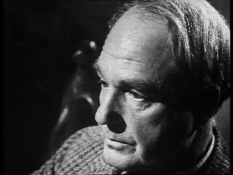 sculptor henry moore describes how he used to gather discarded pieces of stone from stonemasons' yards to work with in his studio. - henry moore stock videos & royalty-free footage