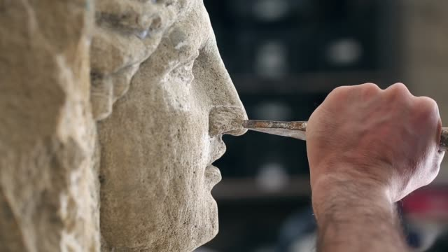 sculptor is working on the creation of a monument - sculptor stock videos & royalty-free footage
