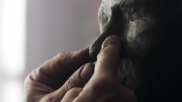 sculptor - art class stock videos & royalty-free footage