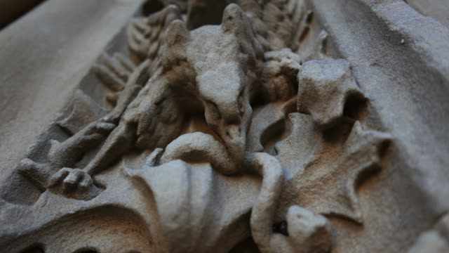 Sculpture, bas-relief on the cathedral in Salamanca