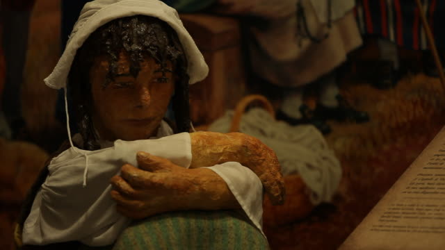 sculpture in an acadian museum  - female likeness stock videos & royalty-free footage