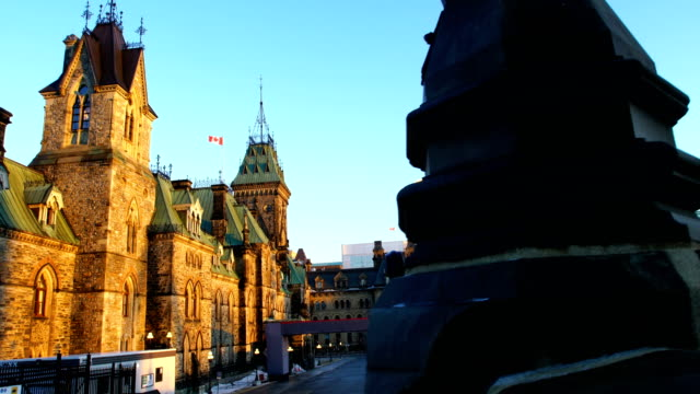 sculpture in front of parliament building in canada - ottawa stock videos & royalty-free footage