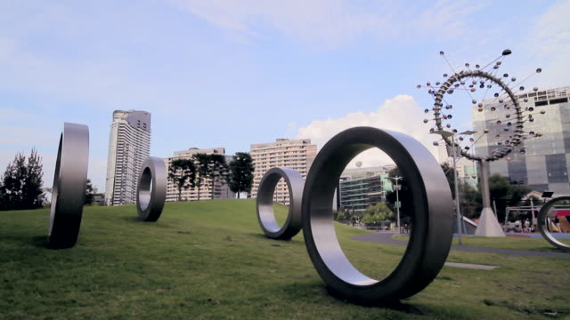 ws sculpture near park / melbourne, victoria, australia - artistic product stock videos & royalty-free footage
