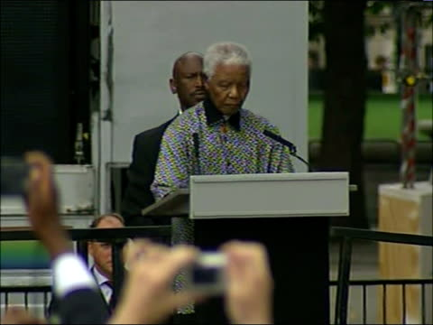 Nelson Mandela statue unveiled in Parliament Square speeches Nelson Mandela speech SOT Allow me to congratulate our friend Gordon Brown on his new...