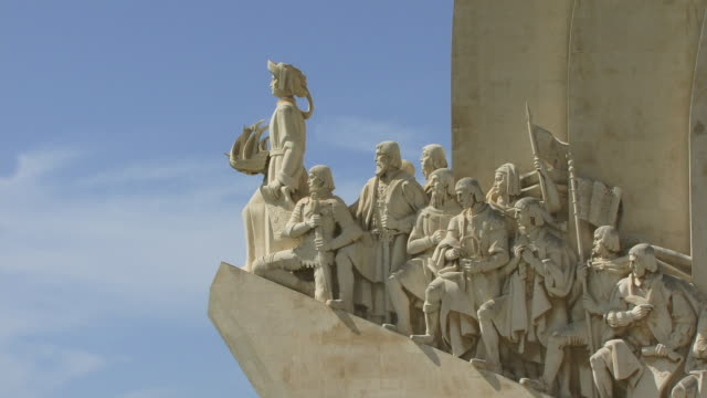 CU ZO WS Sculpture on Monument to the Discoveries / Lisbon, Portugal